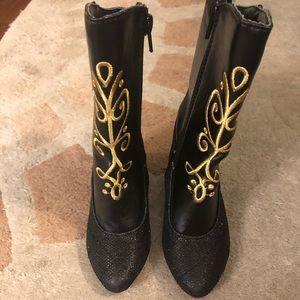 EEUC Frozen Anna boots- toddler 7/8